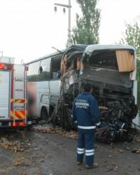 Çorum plakalı otobüs kaza yaptı