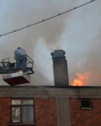 Fırında çıkan yangın korkuttu