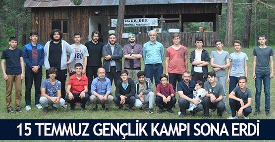 15 Temmuz Gençlik Kampı sona erdi