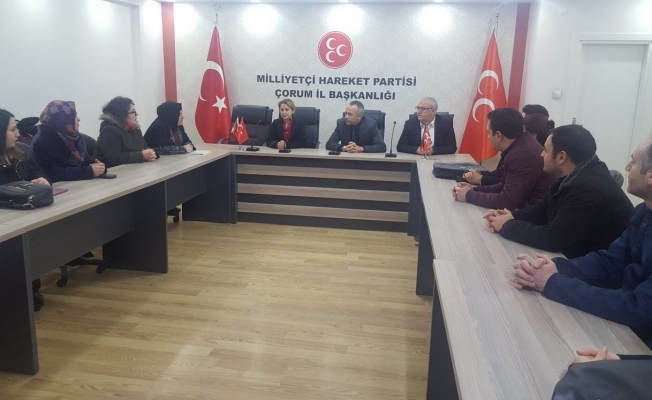 Taşeron mağdurları MHP'de