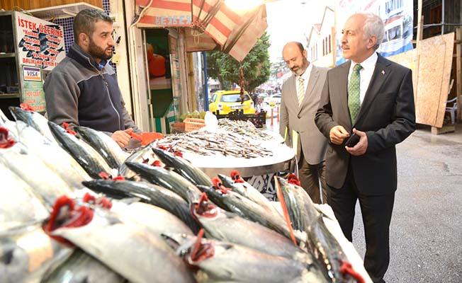 Gül'den balıkçılara ziyaret
