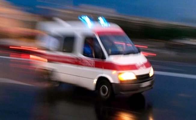 Şoför çatıdan düştü
