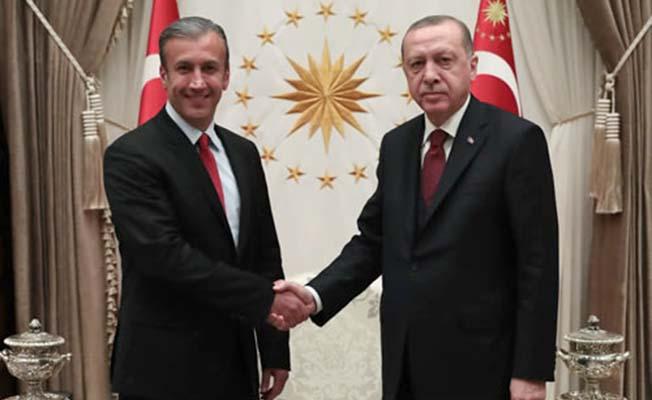 Erdoğan, Maduro'nun yardımcısını kabul etti