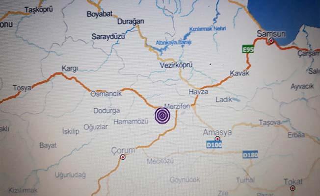 Merzifon'daki deprem Çorum'da hissedildi
