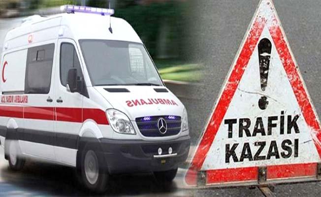 Ankara yolunda büyükbaş hayvana çarptı