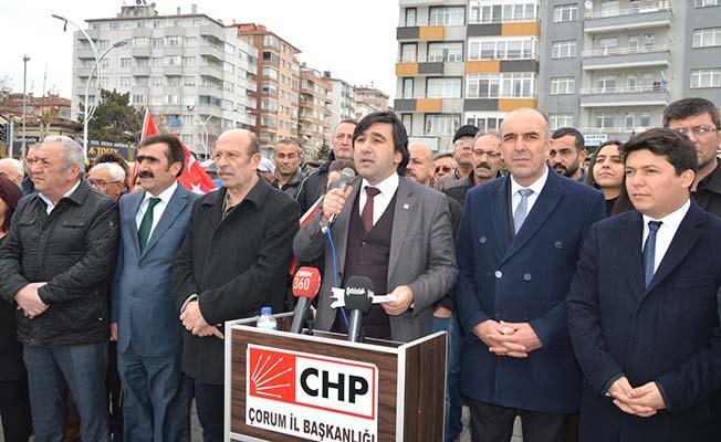 CHP saldırıyı protesto etti