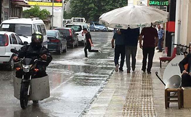 Çorumlu yağmurda böyle!