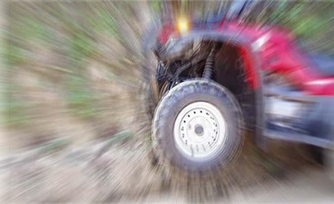 ATV ile kaza yaptı