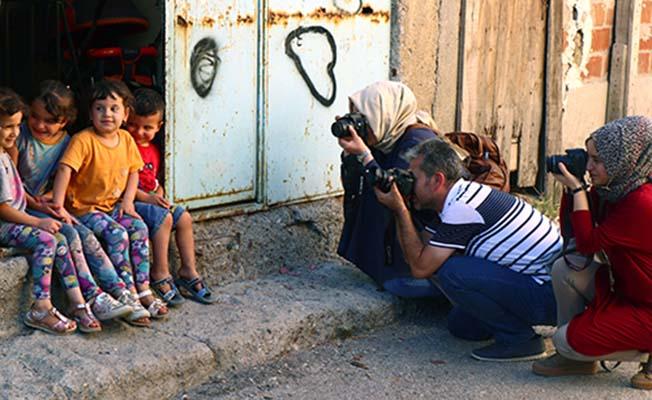 Fotoğrafçılar Çorum sokaklarında