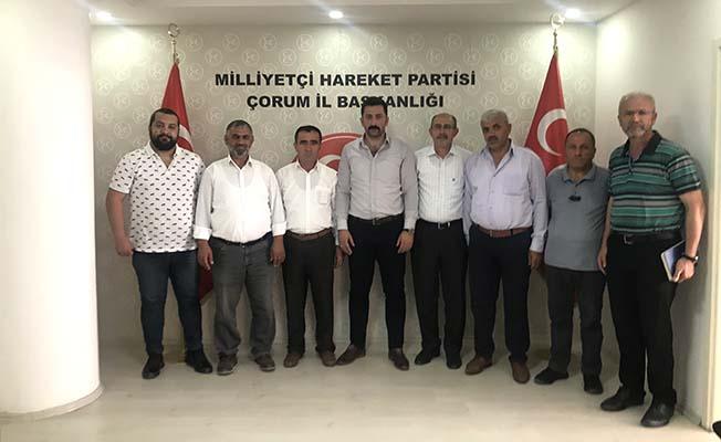 Otobüscüler MHP'ye sorunlarını aktardı