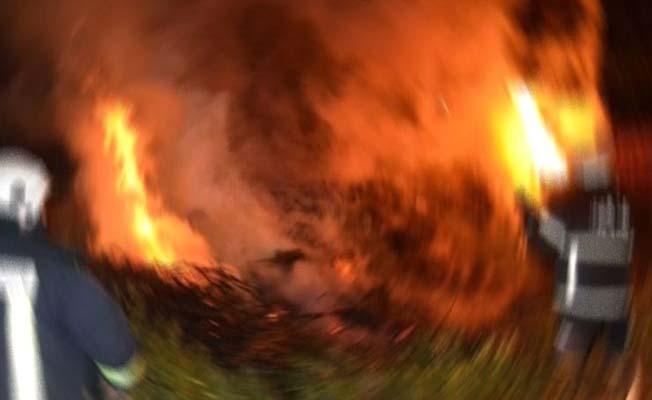 Yangını sürücüler ihbar etti