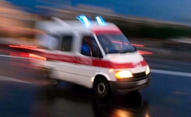 Araç yoldan çıktı, 2 yaralı