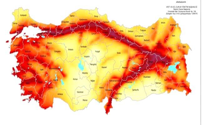 Çorum 2 ve 3'üncü deprem bölgesi
