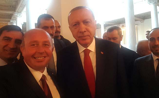 Erdoğan'ın programına katıldı