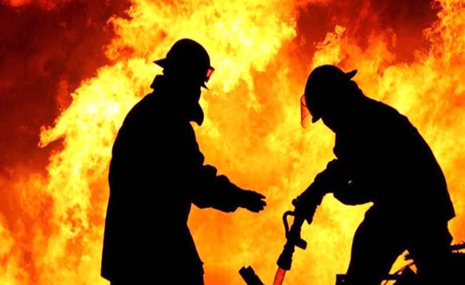 Lojmanda yangın