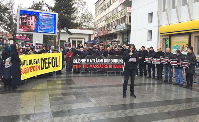 Tüm zalimleri ve zulümleri protesto ettiler