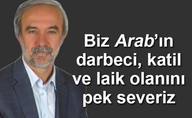 Biz Arab'ın darbeci, katil, laik olanını pek severiz