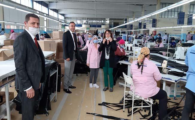 Çorum firması Türkiye'ye tıbbi kıyafet üretiyor