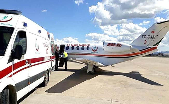 Çorumlu hasta ambulans uçakla Türkiye'ye geliyor