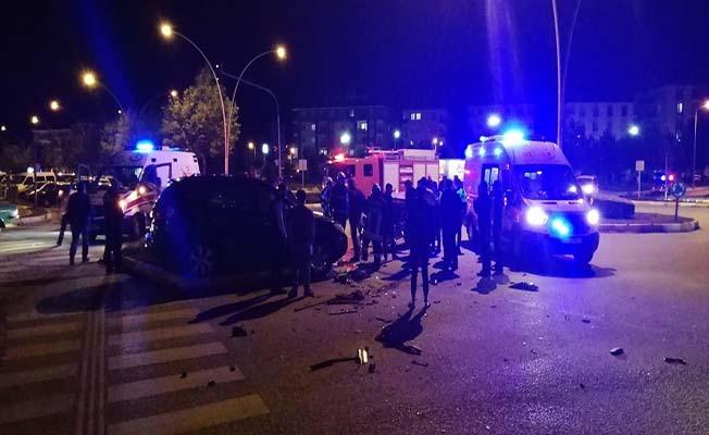 Sokak kısıtlamasında kaza