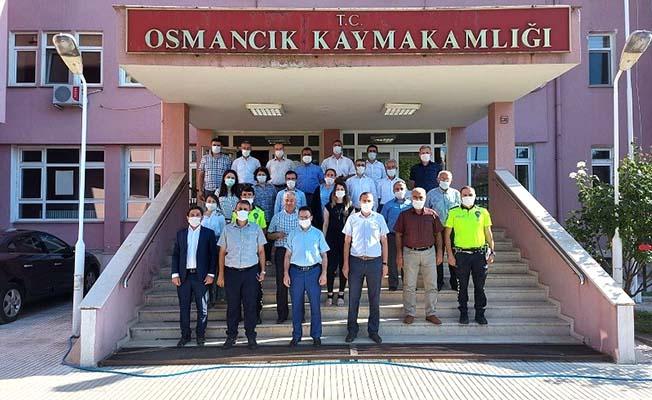 Osmancık'a veda etti