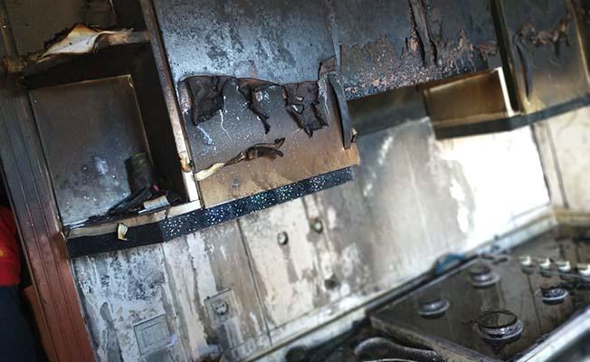 Ev sahibi yangını erken fark edince...
