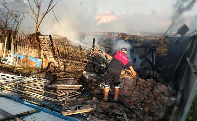 Köyde yangın