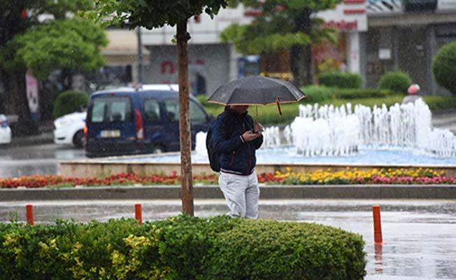 Çorum kısa süreli sağanak yağışlı
