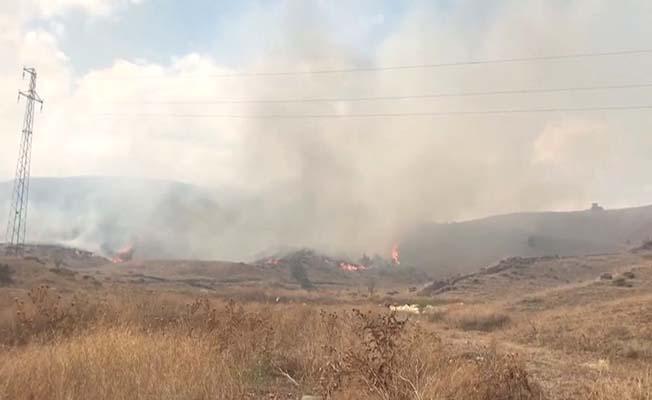 Hamdiköy'de yangın