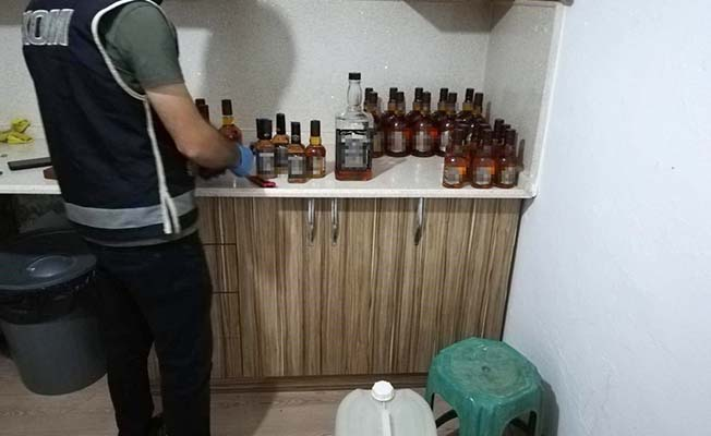 Sahte içki operasyonu, 14 gözaltı