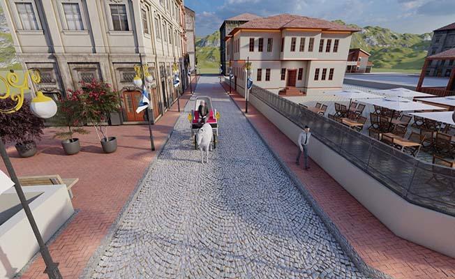 Tarihi Çorum sokağına hibe