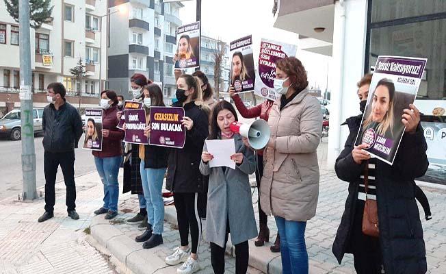 Cinayetin işlendiği yerde protesto