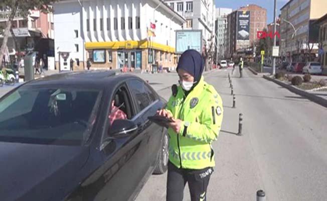 Çorum'un ilk ve tek kadın trafik polisi