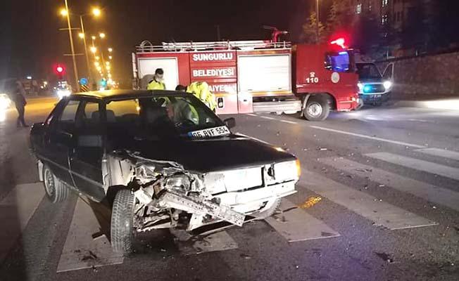 Hastane kavşağında kaza