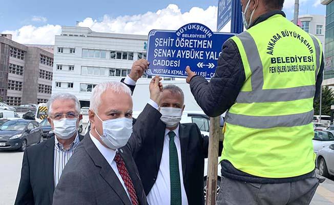 Şehit öğretmenimizin ismi Ankara'da caddeye verildi