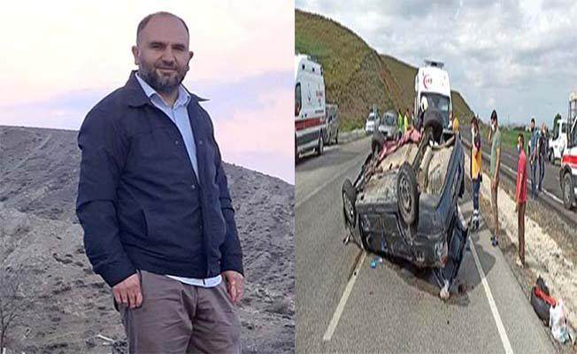 Araç devrildi, Çorumlu işçi hayatını kaybetti