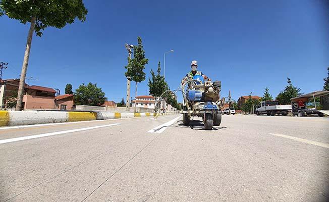Azerbaycan Caddesi'ne bisiklet yolu