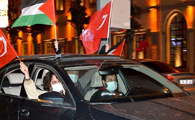 Türkiye ayakta, Çorum'dan zalim İsrail'e tepki