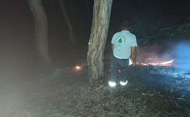 Yıldırım düştü, yangın çıktı