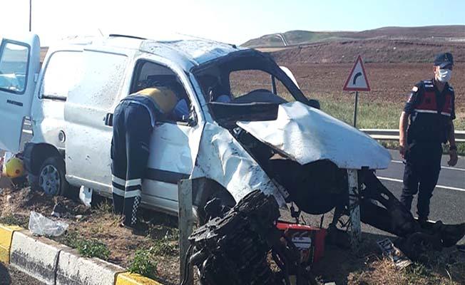 Çorum yolunda kaza, 5 yaralı