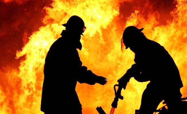 Köy camisinde yangın