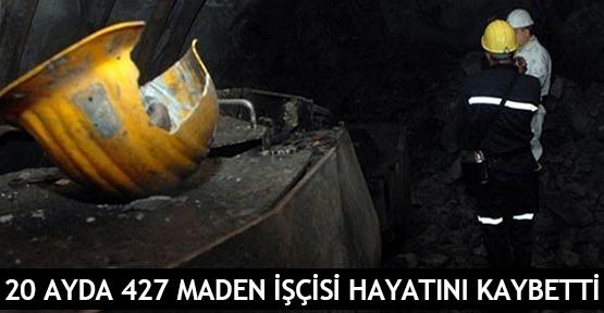 20 ayda 427 maden işçisi hayatını kaybetti