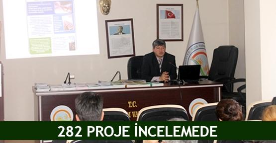 282 proje incelemede