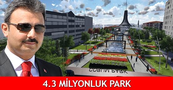 4.3 milyonluk park