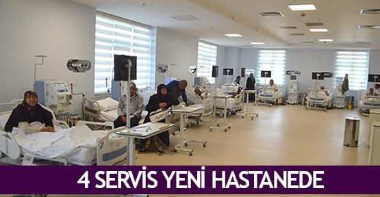 4 servis yeni hastanede