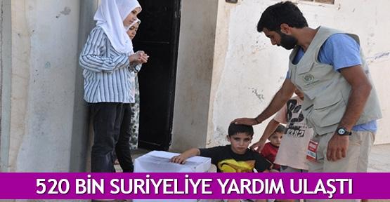 520 bin Suriyeliye yardım ulaştı