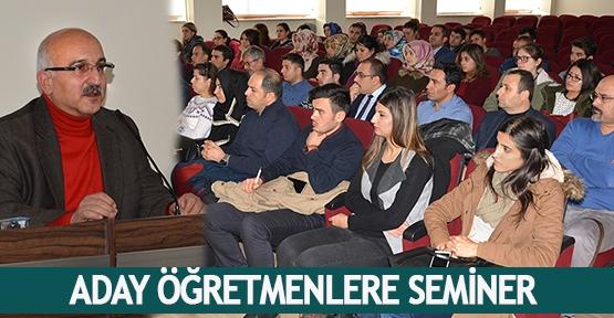 Aday öğretmenlere seminer