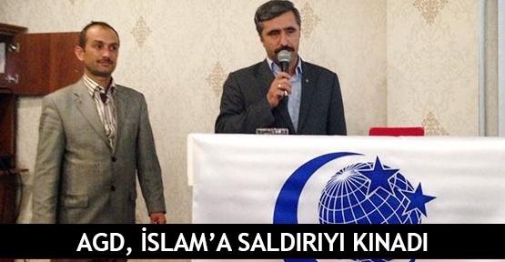 AGD, İslam'a saldırıyı kınadı
