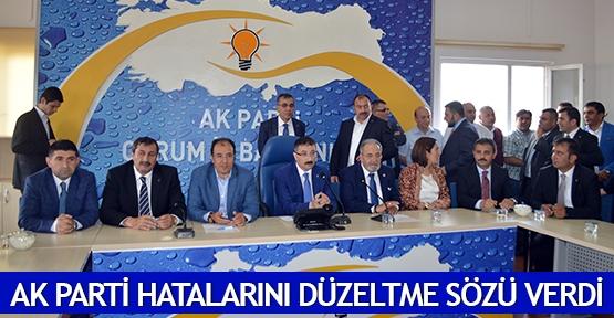 AK Parti hatalarını düzeltme sözü verdi