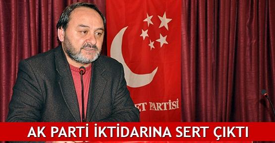 AK Parti iktidarına sert çıktı